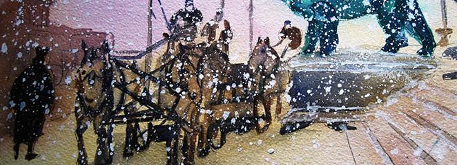 Art Institute Snowstorm