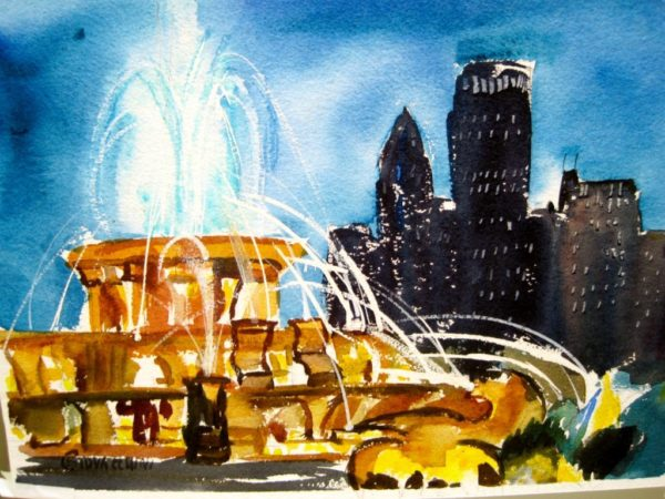 Buckingham Fountain at Dusk
