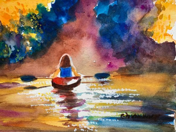 Kayak on a river